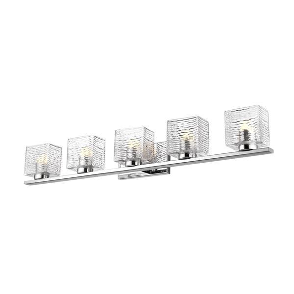 Z-Lite Barrett Bathroom LED Vanity Light - 5-Light - Chrome