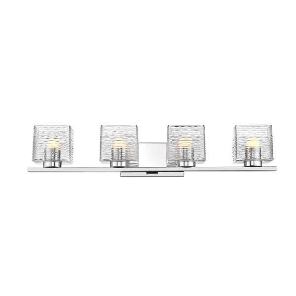Z-Lite Barrett Bathroom LED Vanity Light - 4-Light - Chrome