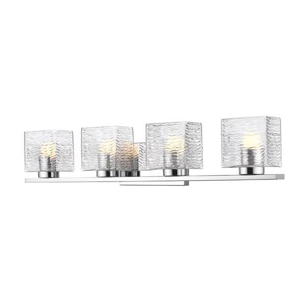 Z-lite Z-Lite Barrett Bathroom LED Vanity Light - 4-Light - Chrome 336-4V-CH-LED