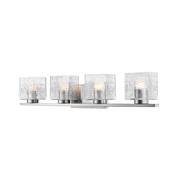 Z-lite Z-Lite Barrett Bathroom LED Vanity Light - 4-Light - Brushed Nickel 336-4V-BN-LED