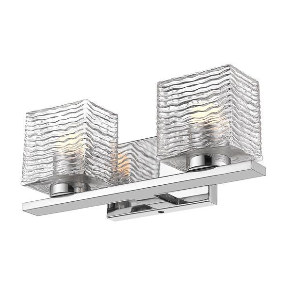 Z-Lite Barrett Bathroom LED Vanity Light - 2-Light - Chrome