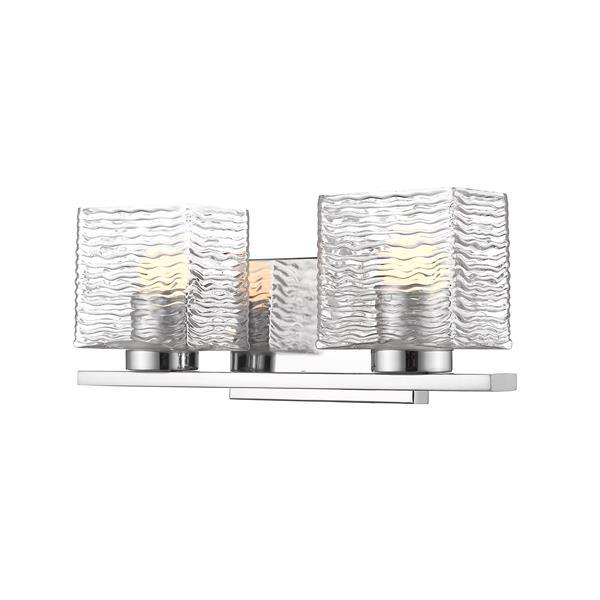 Z-lite Z-Lite Barrett Bathroom LED Vanity Light - 2-Light - Chrome 336-2V-CH-LED