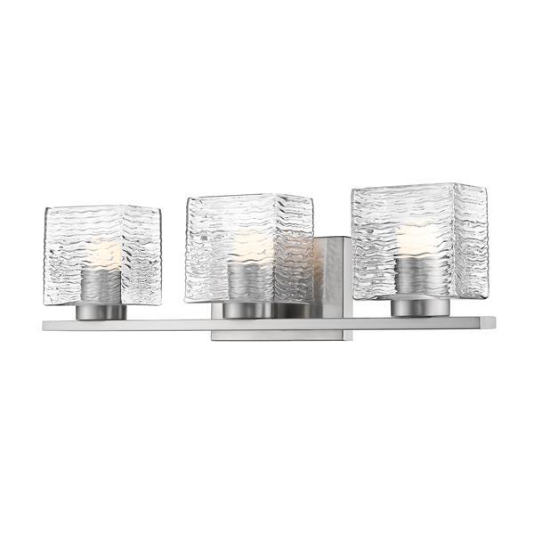 Z-lite Z-Lite Barrett Bathroom LED Vanity Light - 3-Light - Brushed Nickel 336-3V-BN-LED