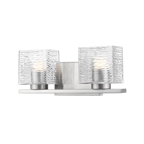 Z-lite Z-Lite Barrett Bathroom LED Vanity Light - 2-Light - Brushed Nickel 336-2V-BN-LED