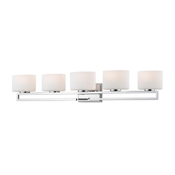 Z-lite Z-Lite Privet Bathroom LED Vanity Light - 5-Light - Chrome 335-5V-CH-LED