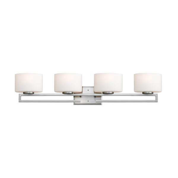 Z-Lite Privet Bathroom LED Vanity Light - 4-Light - Brushed Nickel