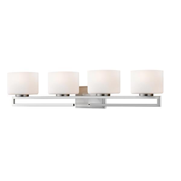 Z-lite Z-Lite Privet Bathroom LED Vanity Light - 4-Light - Brushed Nickel 335-4V-BN-LED