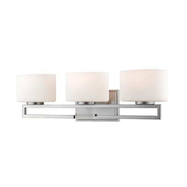 Z-lite Z-Lite Privet Bathroom LED Vanity Light - 3-Light - Brushed Nickel 335-3V-BN-LED