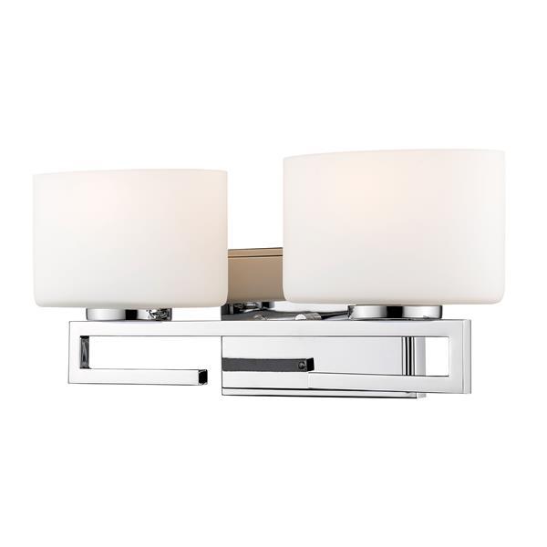 Z-lite Z-Lite Privet Bathroom LED Vanity Light - 2-Light - Chrome 335-2V-CH-LED