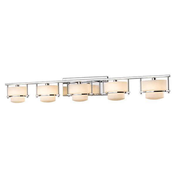 Z-Lite Porter Bathroom LED Vanity Light - 5-Light - Chrome