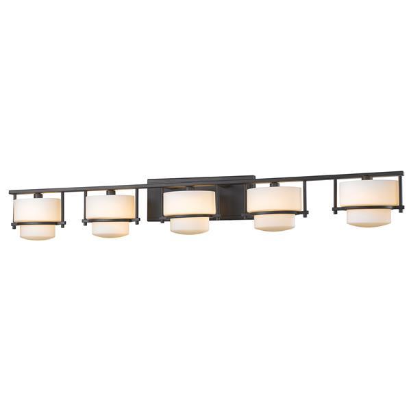 Z-lite Z-Lite Porter Bathroom LED Vanity Light - 5-Light - Bronze 3030-5V-BRZ-LED