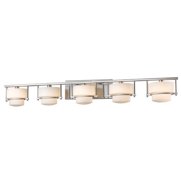 Z-lite Z-Lite Porter Bathroom Vanity Light - 5-Light - Brushed Nickel 3030-5V-BN