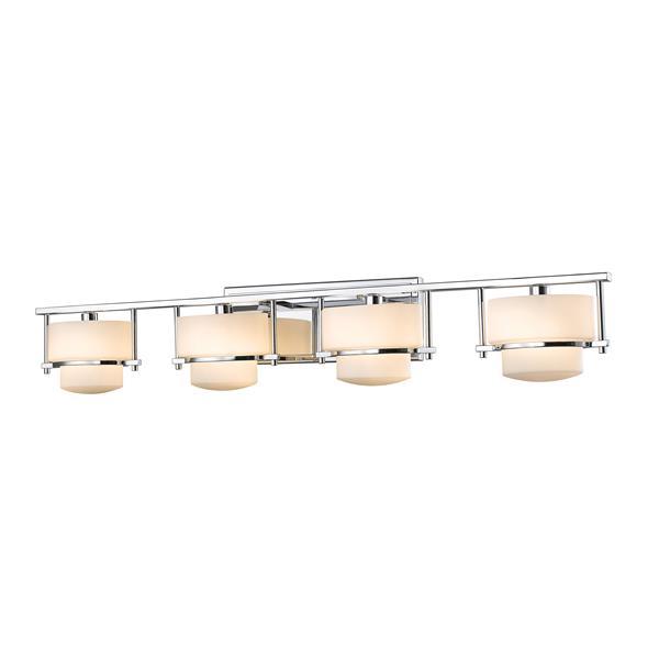 Z-Lite Porter Bathroom Vanity Light - 4-Light - Chrome