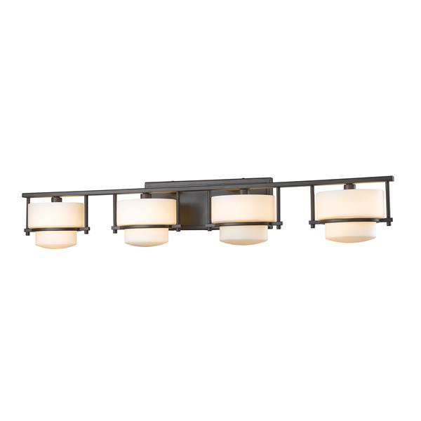 Z-lite Z-Lite Porter Bathroom LED Vanity Light - 4-Light - Bronze 3030-4V-BRZ-LED
