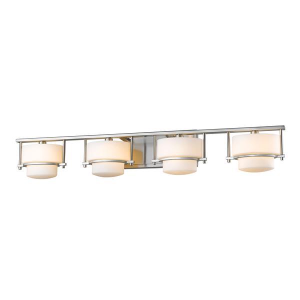 Z-lite Z-Lite Porter Bathroom LED Vanity Light - 4-Light - Brushed Nickel 3030-4V-BN-LED