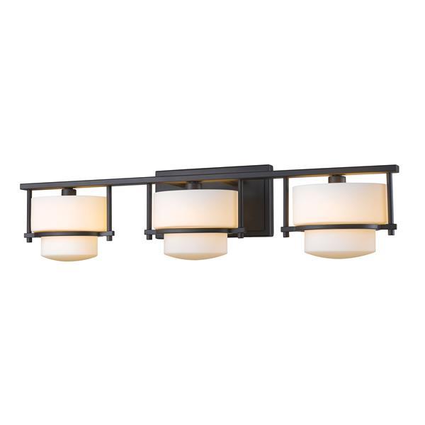 Z-lite Z-Lite Porter Bathroom LED Vanity Light - 3-Light - Bronze 3030-3V-BRZ-LED