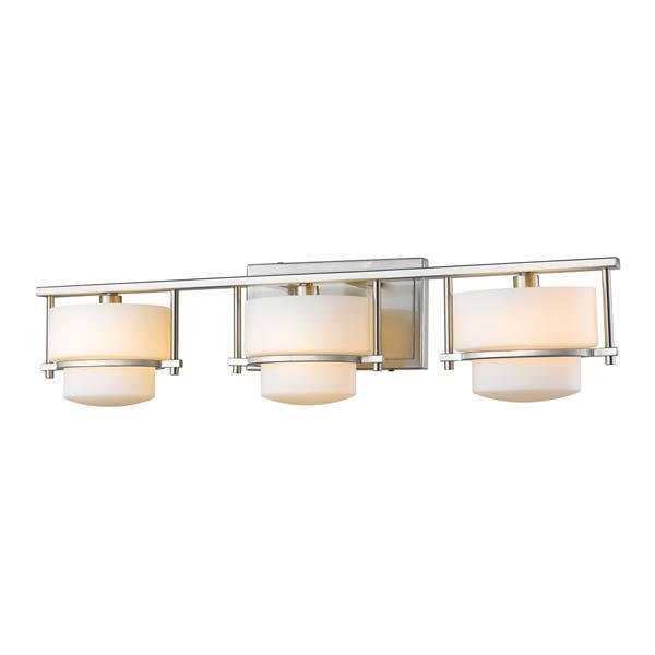Z-lite Z-Lite Porter Bathroom LED Vanity Light - 3-Light - Brushed Nickel 3030-3V-BN-LED