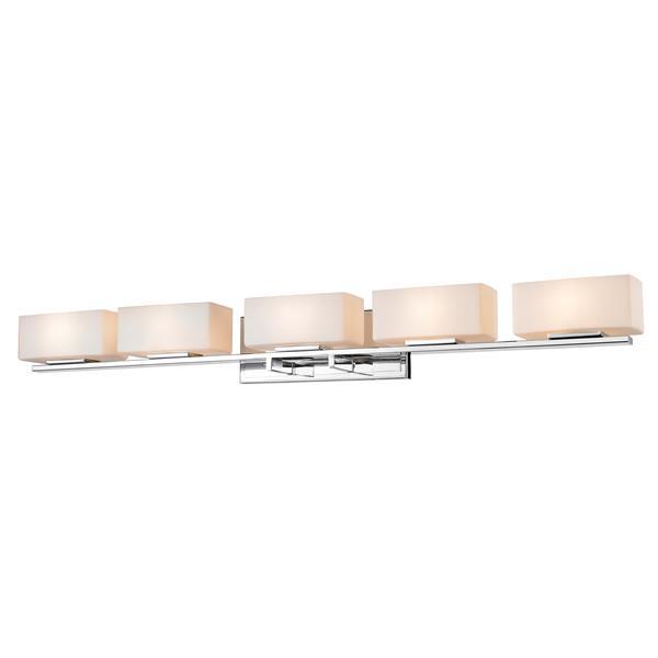 Z-Lite Kaleb Bathroom LED Vanity Light - 5-Light - Chrome