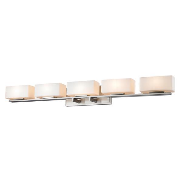 Z-lite Z-Lite Kaleb Bathroom LED Vanity Light - 5-Light - Brushed Nickel 3029-5V-BN-LED