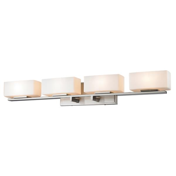 Z-lite Z-Lite Kaleb Bathroom LED Vanity Light - 4-Light - Brushed Nickel 3029-4V-BN-LED
