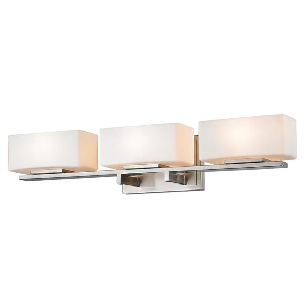 Z-lite Z-Lite Kaleb Bathroom LED Vanity Light - 3-Light - Brushed Nickel 3029-3V-BN-LED