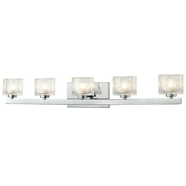 Z-lite Z-Lite Rai Bathroom LED Vanity Light - 5-Light - Chrome 3028-5V-LED