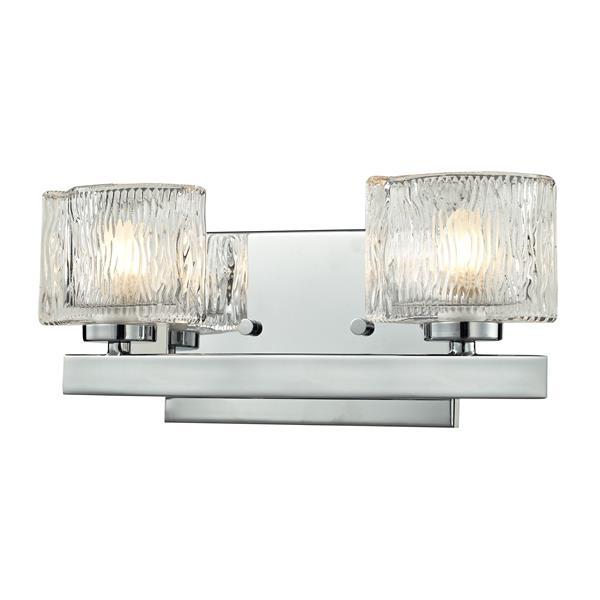 Z-lite Z-Lite Rai Bathroom LED Vanity Light - 2-Light - Chrome 3028-2V-LED