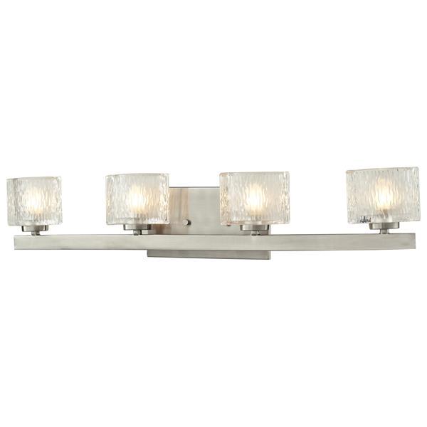 Z-lite Z-Lite Rai Bathroom LED Vanity Light - 4-Light - Brushed Nickel 3027-4V-LED