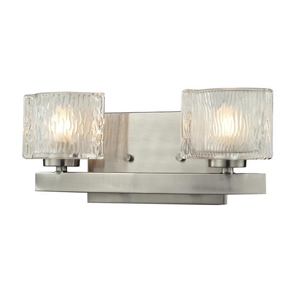 Z-lite Z-Lite Rai Bathroom LED Vanity Light - 2-Light - Brushed Nickel 3027-2V-LED