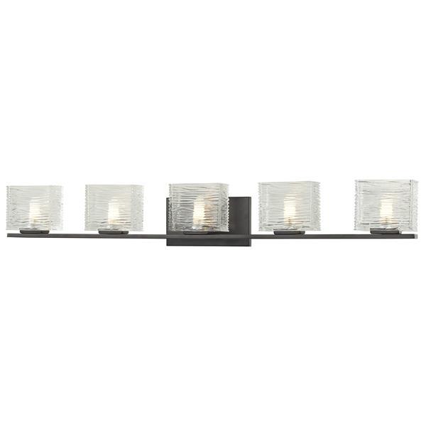 Z-lite Z-Lite Jaol Bathroom LED Vanity Light - 5-Light - Bronze 3026-5V-LED