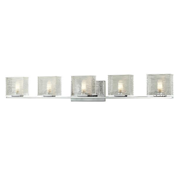 Z-lite Z-Lite Jaol Bathroom Vanity Light - 5-Light - Chrome 3025-5V