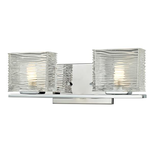 Z-lite Z-Lite Jaol Bathroom LED Vanity Light - 2-Light - Chrome 3025-2V-LED