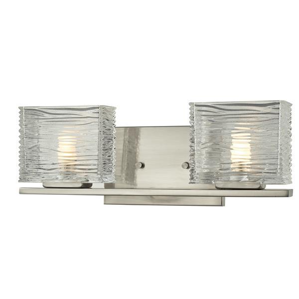 Z-lite Z-Lite Jaol Bathroom LED Vanity Light - 2-Light - Brushed Nickel 3024-2V-LED