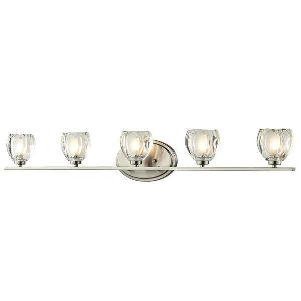 Z-lite Z-Lite Hale Bathroom LED Vanity Light - 5-Light - Brushed Nickel 3022-5V-LED