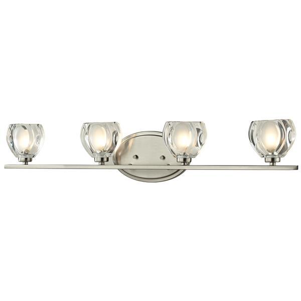 Z-lite Z-Lite Hale Bathroom LED Vanity Light - 4-Light - Brushed Nickel 3022-4V-LED