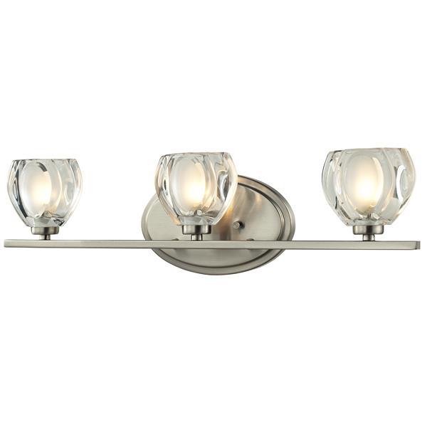 Z-lite Z-Lite Hale Bathroom LED Vanity Light - 3-Light - Brushed Nickel 3022-3V-LED