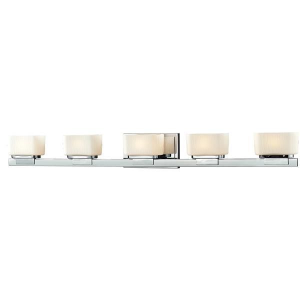 Z-lite Z-Lite Gaia Bathroom LED Vanity Light - 5-Light - Chrome 3020-5V-LED