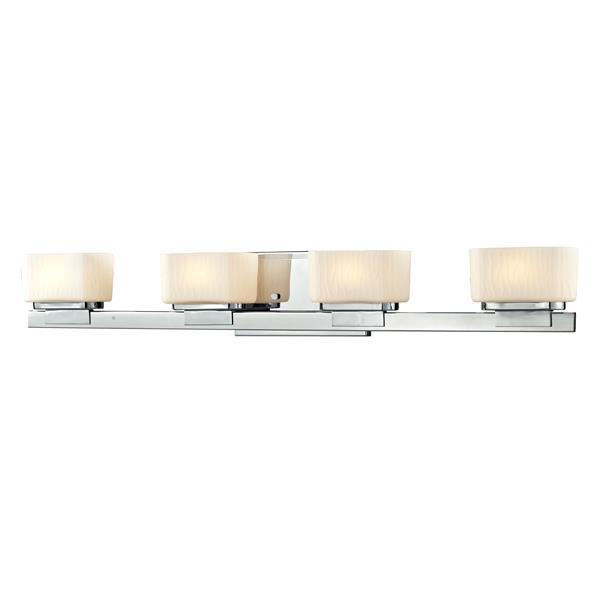 Applique pour salle de bain Gaia, 4 lumières, chrome
