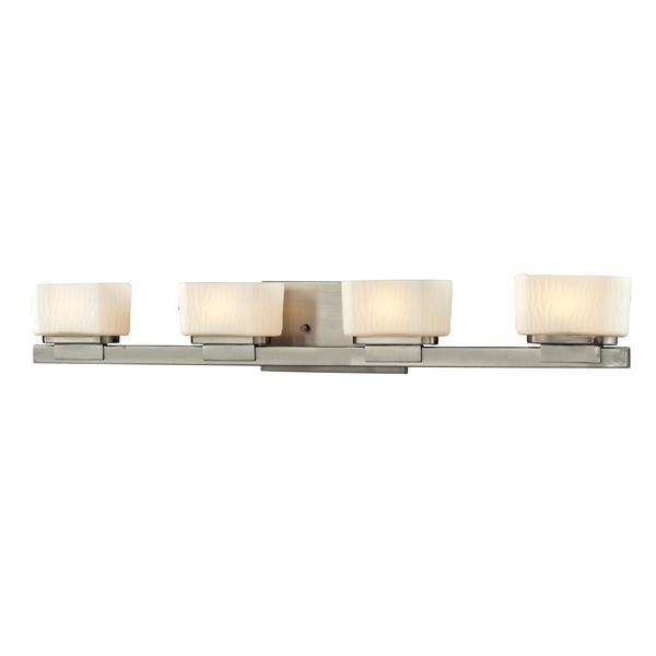 Z-lite Z-Lite Gaia Bathroom LED Vanity Light - 4-Light - Brushed Nickel 3019-4V-LED