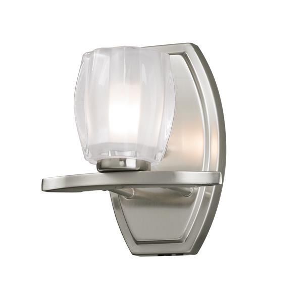 Z-lite Z-Lite Haan Bathroom Vanity Light - 1-Light - Brushed Nickel 3017-1V