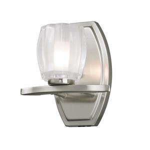 Z-Lite Haan Bathroom Vanity Light - 1-Light - Brushed Nickel