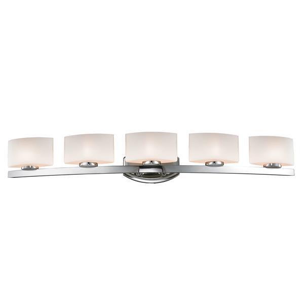Z-Lite Galati Bathroom LED Vanity Light - 5-Light - Chrome