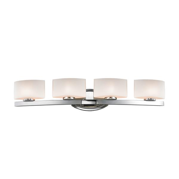 Z-Lite Galati Bathroom LED Vanity Light - 4-Light - Chrome