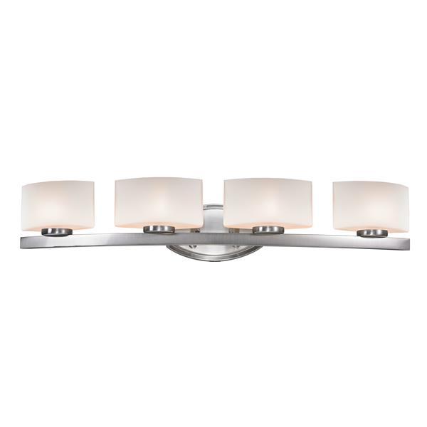 Z-lite Z-Lite Galati Bathroom LED Vanity Light - 4-Light - Brushed Nickel 3013-4V-LED