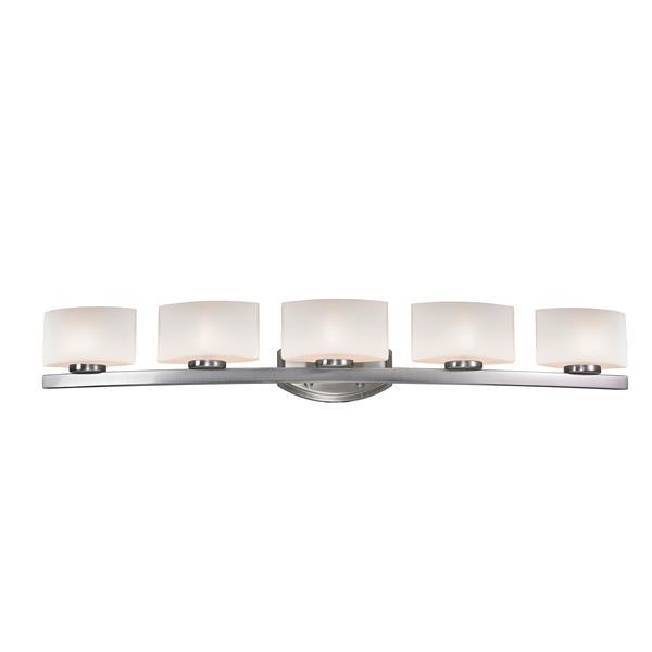 Z-lite Z-Lite Galati Bathroom LED Vanity Light - 5-Light - Brushed Nickel 3013-5V-LED
