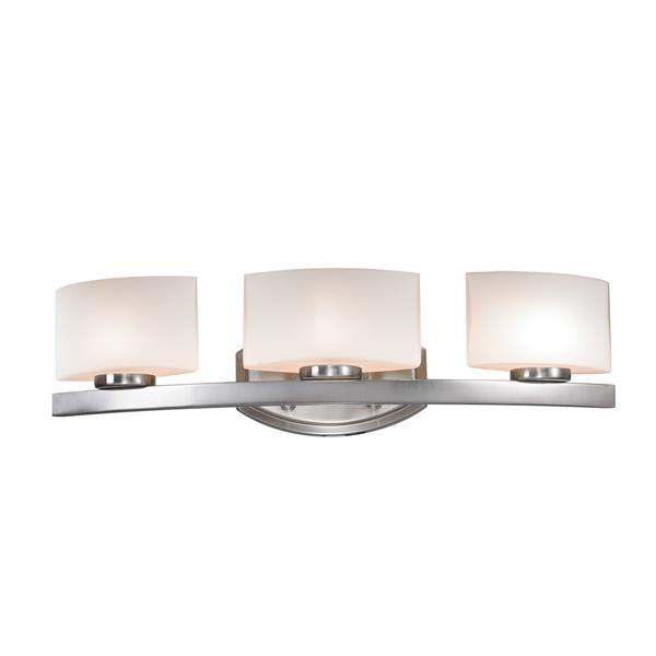 Z-lite Z-Lite Galati Bathroom LED Vanity Light - 3-Light - Brushed Nickel 3013-3V-LED