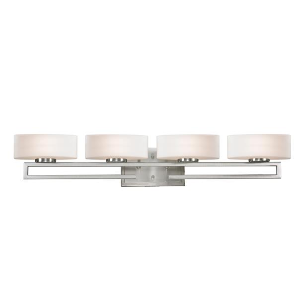 Z-lite Z-Lite Cetynia Bathroom LED Vanity Light - 4-Light - Brushed Nickel 3010-4V-LED