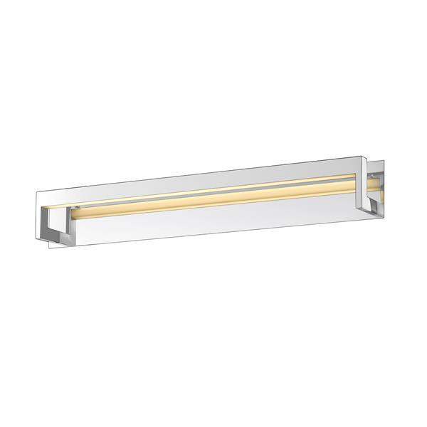 Z-Lite Linc Bathroom LED Vanity Light - 1-Light - Chrome