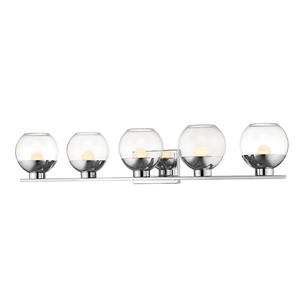 Applique pour salle de bain Osono, 5 lumières, chrome