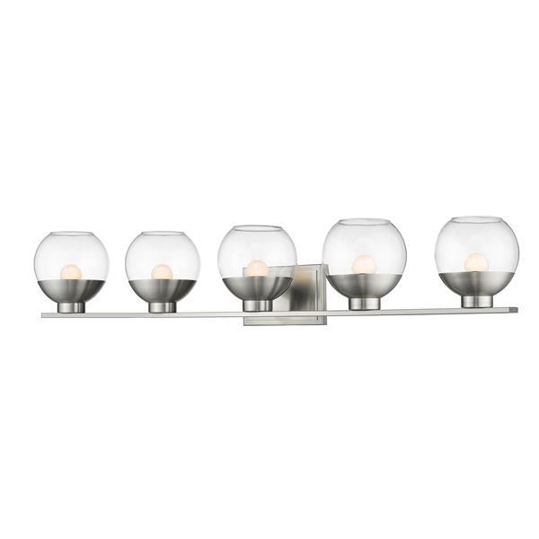 Z-lite Z-Lite Osono Bathroom LED Vanity Light - 5-Light - Brushed Nickel 1924-5V-BN-LED